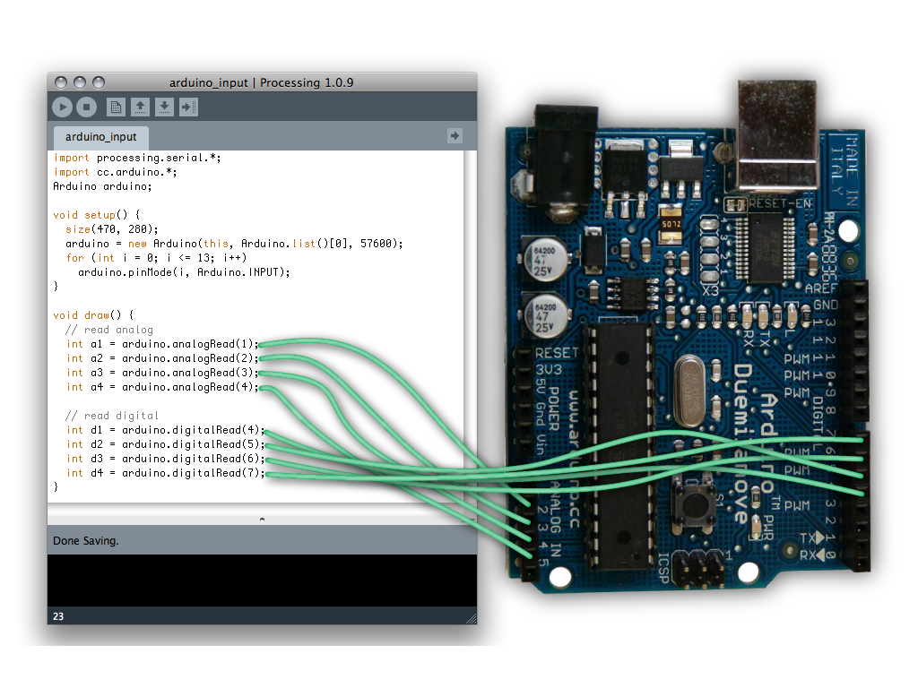 Processing and Arduino in Tandem